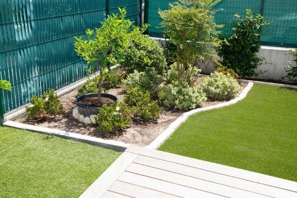 fake grass mulch plants