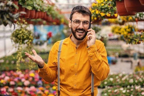 landscape architect on phone call